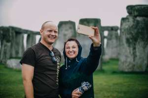 Getting A Selfie At Stonehenge