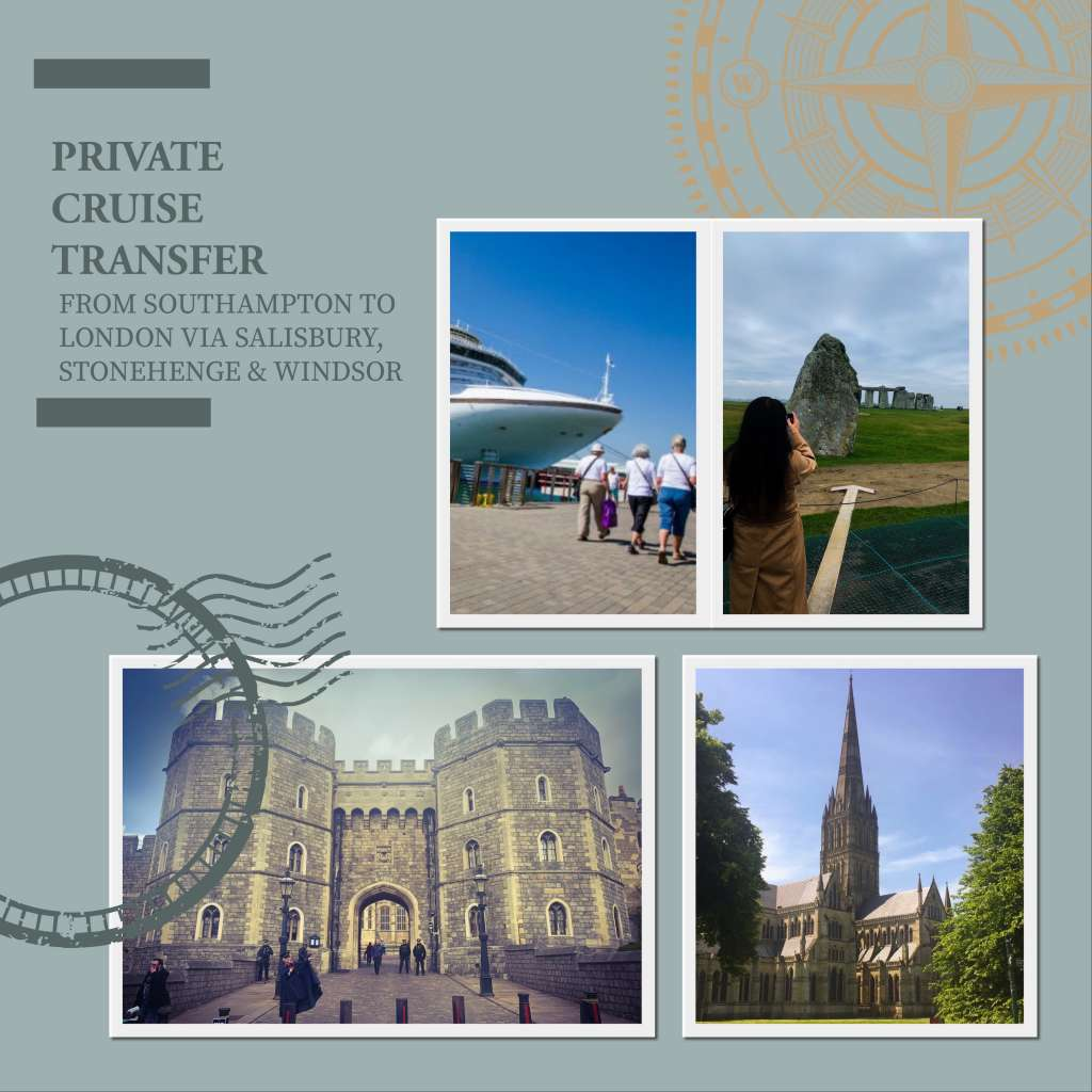 Private Cruise Transfer From Southampton to London Via Salisbury, Stonehenge and Windsor Castle